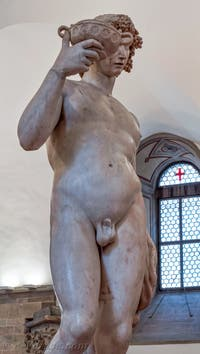 Michel-Ange Buonarroti, Bacchus, 1496-1497, Musée du Bargello à Florence Italie