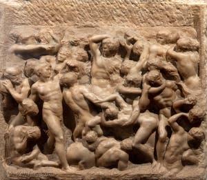 Michel-Ange, Bataille d'Hercule et des Centaures, Casa Buonarotti à Florence en Italie