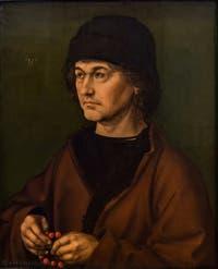 Albrecht Dürer, Portrait du père de l'artiste, huile sur bois, 1490, à la Galerie des Offices, les Uffizi à Florence en Italie
