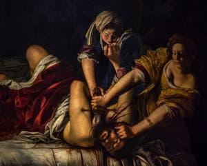Artemisia Gentileschi, Holopherne décapité par Judith, 1620, Galerie Offices Uffizi, Florence Italie
