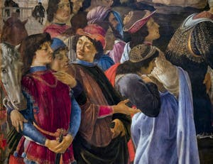 Botticelli, Adoration des Mages, 1475-1477, Galerie Offices Uffizi, Florence Italie