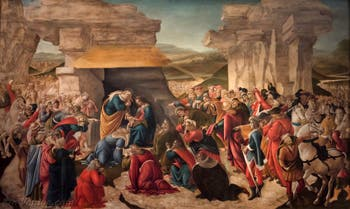 Botticelli, Adoration des Mages 1490-1500 Galerie des Offices, Uffizi à Florence Italie