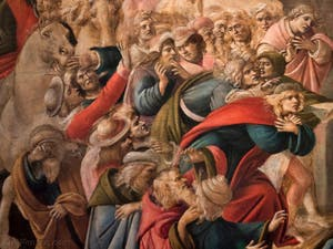 Botticelli, Adoration des Mages 1490-1500, à la galerie des Offices, les Uffizi à Florence Italie