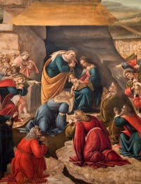 Botticelli, Adoration des Mages, 1490-1500, galerie des Offices, les Uffizi à Florence Italie