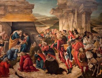 Botticelli, Adoration des Mages 1490-1500, Galerie des Offices Uffizi Florence Italie