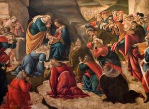 Botticelli, Adoration des Mages avec huit Rois Mages, 1490-1500, Galerie des Offices Uffizi Florence Italie