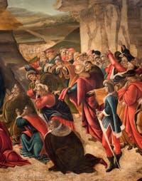 Botticelli, Adoration des Mages 1490-1500, galerie des Offices Uffizi, Florence Italie