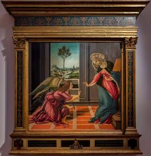 Sandro Botticelli, Annonciation de Cestello, 1489, Galerie Offices Uffizi, Florence Italie
