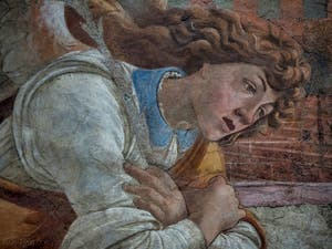 Sandro Botticelli, Annonciation de San Martino alla Scala, galerie des Offices, Uffizi à Florence Italie