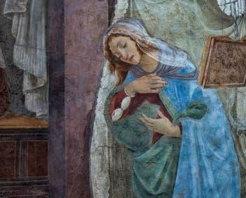 Sandro Botticelli, Annonciation de San Martino alla Scala, galerie des Offices, Uffizi à Florence Italie