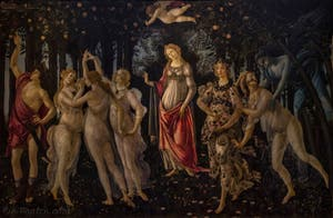 Sandro Botticelli, Le Printemps, 1481-1482, Galerie Offices Uffizi, Florence Italie