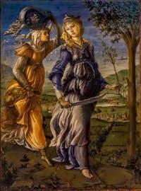 Sandro Botticelli, Le retour de Judith du camp ennemi à Béthulie, 1470, Galerie Offices Uffizi, Florence Italie