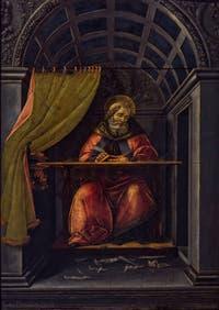 Sandro Botticelli, Saint-Augustin dans son cabinet d'études, 1490-1500, Galerie Offices Uffizi, Florence Italie