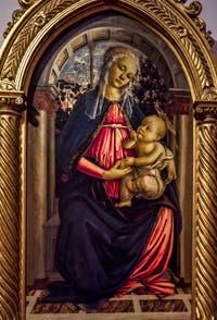 Sandro Botticelli, Vierge à la roseraie, 1467-1470, Galerie Offices Uffizi, Florence Italie