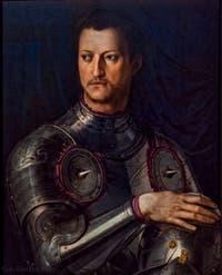Bronzino, Portrait de Cosimo Ier de Médicis en armure, 1545, Galerie Offices Uffizi, Florence Italie