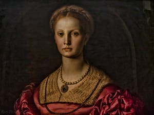 Bronzino Agnolo Tori, Lucrezia Panciatichi, 1541, Galerie des Offices Uffizi à Florence en Italie