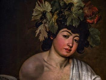 Le Caravage, Bacchus adolescent, 1598, Galerie Offices Uffizi, Florence Italie