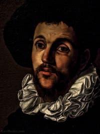 Cecco del Caravaggio, Francesco Boneri, Jeune homme à la fraise, 2e moitié XVIIe siècle, Galerie Offices Uffizi, Florence Italie