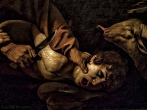 Le Caravage Michelangelo Merisi, Sacrifice d'Isaac, 1603, Galerie Offices Uffizi, Florence Italie