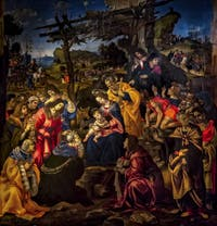 Filippino Lippi, Adoration des Mages, 1496, Galerie des Offices Uffizi à Florence en Italie