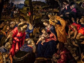 Filippino Lippi, Adoration des Mages, 1496, Galerie des Offices Uffizi à Florence en Italie
