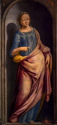 Fra Bartolomeo, Porzia, 1495, Galerie des Offices Uffizi à Florence en Italie