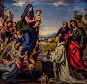 Fra Bartolomeo, Vision de Saint-Bernard, 1504-1507, Galerie des Offices Uffizi à Florence en Italie
