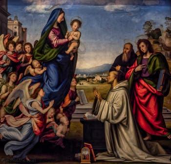 Fra Bartolomeo, Vision de saint Bernard, 1504-1507, Galerie des Offices Uffizi à Florence en Italie