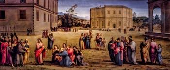 Francesco Granacci, Joseph présente le père et les frères au pharaon, 1515, Galerie des Offices Uffizi à Florence en Italie