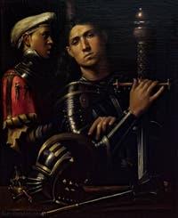 Giorgione, Le Gattamelata, Capitaine et écuyer, 1505-1510, Galerie Offices Uffizi, Florence Italie