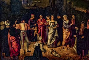 Giorgione, Le jugement de Salomon, 1496-1506, Galerie Offices Uffizi, Florence Italie