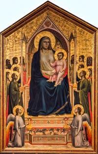 Giotto, Majesté, Vierge de tous les Saints, 1310, Galerie Offices Uffizi, Florence Italie