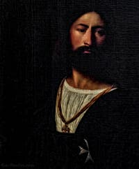 Le Titien, Portrait d'un Chevalier de l'Ordre de Malte, 1510-1515, Galerie Offices Uffizi, Florence Italie