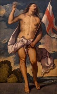 Le Titien, Christ ressuscité, 1510, Galerie Offices Uffizi, Florence Italie