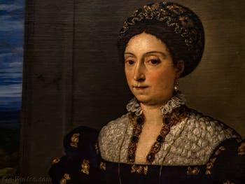 Le Titien, Portrait d'Eleonora Gonzaga della Rovere, 1536-1538, Galerie Offices Uffizi, Florence Italie