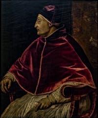 Le Titien, Portrait du Pape Sixte IV, 1540-1545, Galerie Offices Uffizi, Florence Italie