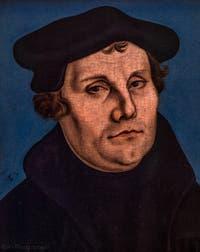 Lukas Cranach le Vieux, Martin Luther, 1529, à la Galerie des Offices, les Uffizi à Florence en Italie