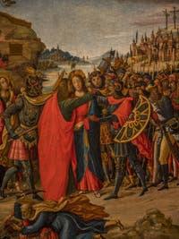 Maestro di Marradi, Capture du Christ, 1500-1510, à la Galerie des Offices, les Uffizi à Florence en Italie