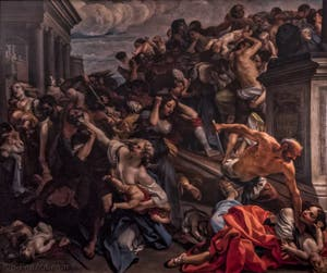Marco Benefial, Le massacre des innocents, 1730, Galerie Offices Uffizi, Florence Italie