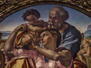 Michel-Ange Buonarroti, Sainte Famille Tondo Doni, 1507, Galerie Offices Uffizi, Florence Italie