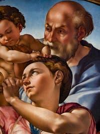 Michel-Ange Buonarroti, Sainte-Famille Tondo Doni, 1507, Galerie Offices Uffizi, Florence Italie