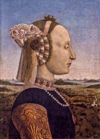 Pierro della Francesca, Battista Sforza, 1465-1472, à la Galerie des Offices, les Uffizi à Florence en Italie