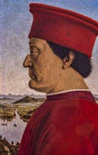 Piero della Francesca, Federigo II da Montefeltro, 1465-1472, à la Galerie des Offices, les Uffizi à Florence en Italie