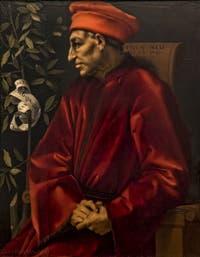 Pontormo, Portrait de Cosimo le Vieux de Médicis, 1519-1520, Galerie Offices Uffizi, Florence Italie