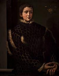 Ghirlandaio Ridolfo Bigordi, Portrait de Cosimo Ier enfant, 1531, Galerie Offices Uffizi, Florence Italie