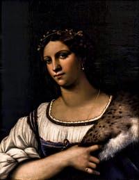 Sebastiano del Piombo, Portrait de Femme, La Fornarina, 1512, à la Galerie des Offices, les Uffizi à Florence en Italie
