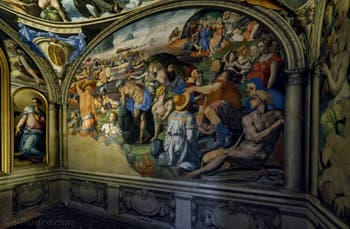 Bronzino, Le Passage de la Mer Rouge par Moïse, 1540-1545, Chapelle Eléonore de Tolède, Palazzo Vecchio, Florence Italie
