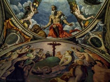 Bronzino, L'Adoration du serpent de bronze, 1540-1545, Chapelle d'Eléonore de Tolède, Palazzo Vecchio, Florence Italie
