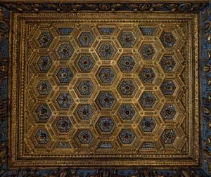 Benedetto et Giuliano da Maiano, Stefano Rosseli, Plafond de la salle des Gigli, des Lys, 1472-1480, Palazzo Vecchio, Florence Italie