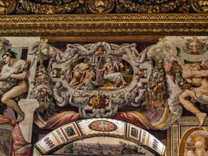 Domenico Ghirlandaio, fresques Salle des Gigli, des Lys, 1482-1485, du Palazzo Vecchio à Florence Italie